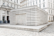 The Memorial To The Victims Of The Holocaust In Vienna Symbolizes A Closed Library With Books Of Human Destinies That It Is No Longer Possible To Read And Open