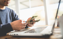 Make Money Online Concept, Man...