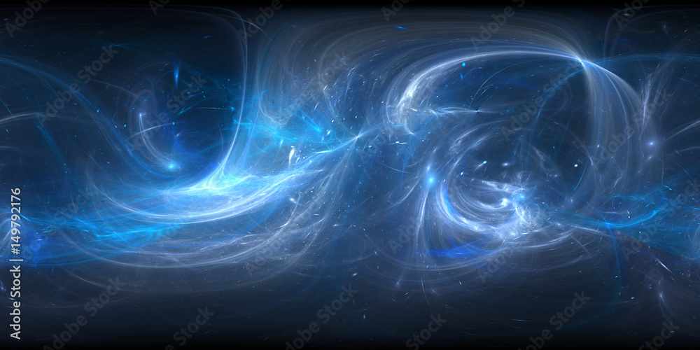 Fototapety, obrazy: Blue glowing plasma in space, 360 degree panorama