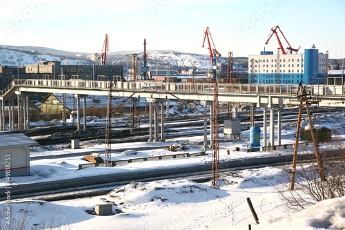 Foto op Plexiglas Murmansk Railway Station in Russia may be the northernmost railway station