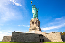 View Of The Statue Of Liberty In New York, USA.