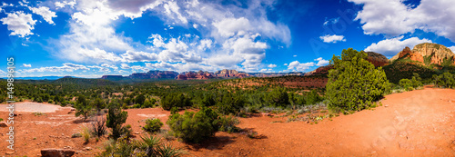 Door stickers Orange Glow Beautiful Sedona Panorama