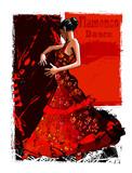 Hiszpańska tancerka flamenco - 149929395