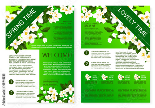 Spring Flowers Welcome Brochure Template Design Buy This Stock