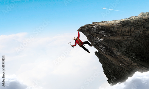 Photo Extreme climbing is his adrenaline