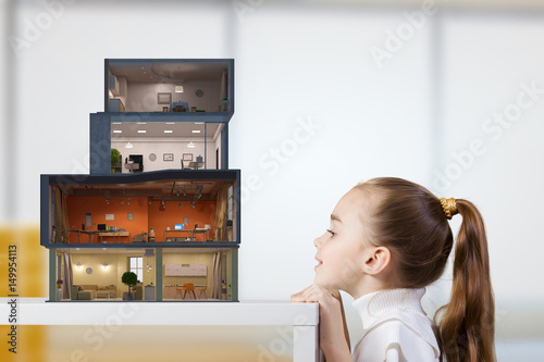 Photo  Design of your dream house. Mixed media