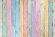 canvas print picture - colorful pastel wood planks texture or background