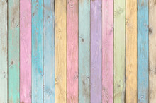 Colorful Pastel Wood Planks Te...