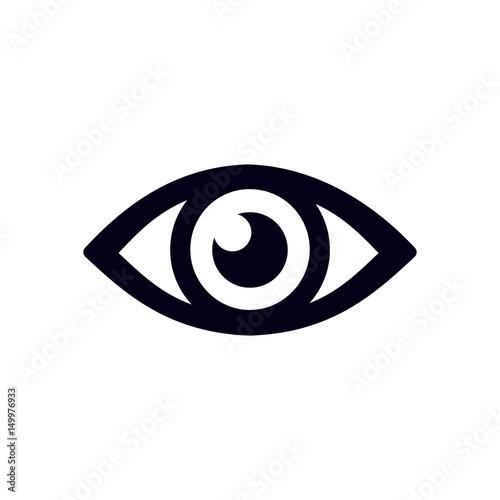 Eye icon. Flat design style. Wall mural