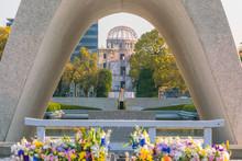 Memorial Cenotaph In Hiroshima, Japan