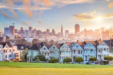 Famous View Of San Francisco At Alamo Square