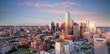 Leinwanddruck Bild - Dallas, Texas cityscape with blue sky at sunset