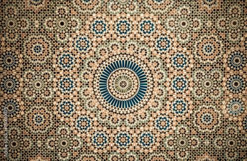 Poster Maroc moroccan vintage tile background