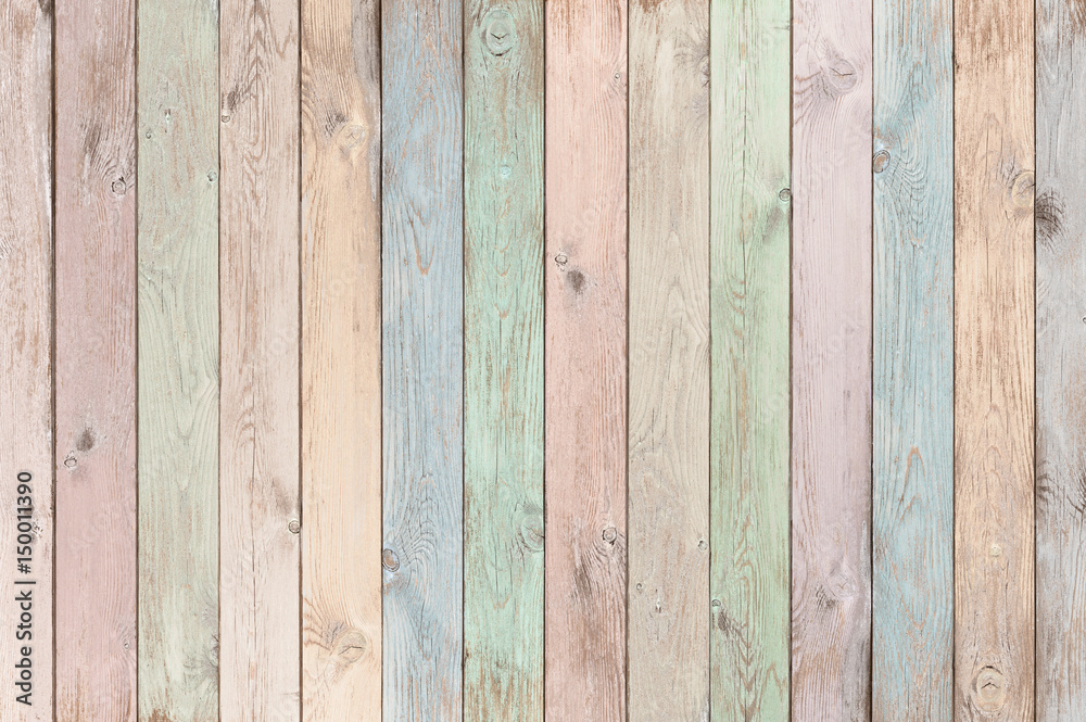 pastel colored wood planks texture or background