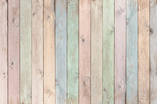 Pastel Colored Wood Planks Tex...