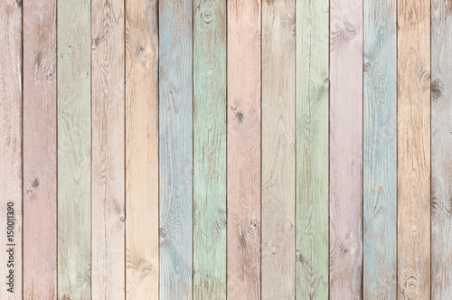 fototapeta na ścianę pastel colored wood planks texture or background
