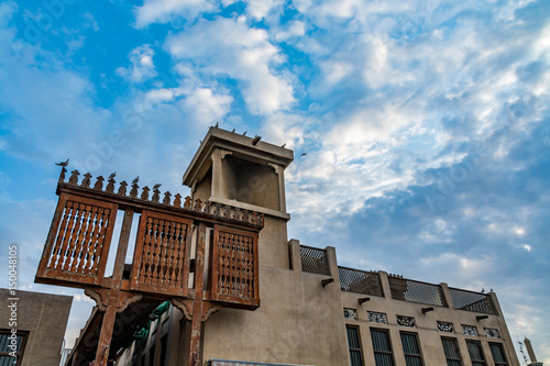 Photo  Old town in Dubai, Bastakiya district, Al Fahidi historical neighbourhood