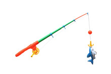 Toy - Colorful Plastic Fishing Rod For Kids