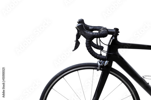 Road bike isolated with copy space