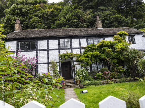 Cottage in Pott Shrigley which  is in Cheshire East, England Canvas Print