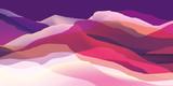Kolor góry, fale, abstrakcyjna powierzchnia, nowoczesne tło, wektor wzór Ilustracja dla twojego projektu