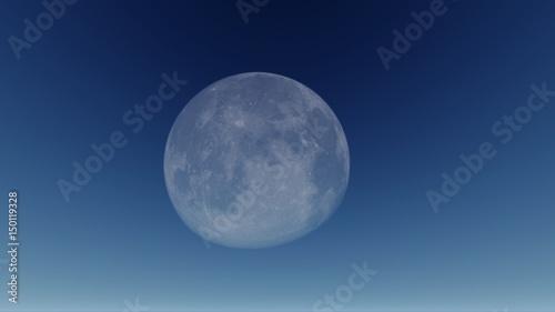 Dark blue sky with a big full moon Fototapet