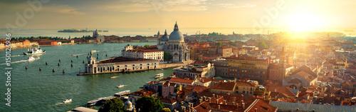 Aluminium Prints Venice Top view of Venice