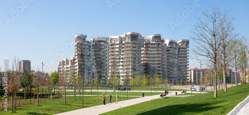 In de dag Milan MILAN, ITALY, MARCH 28, 2017 - New modern residential building houses of