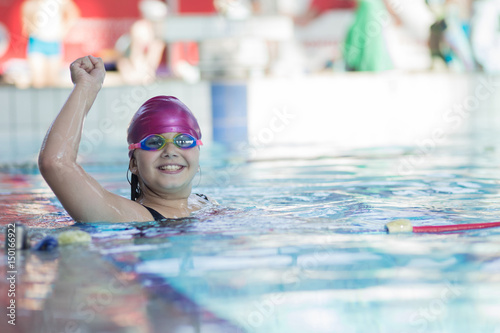 Fototapety, obrazy: young and successful swimmers pose