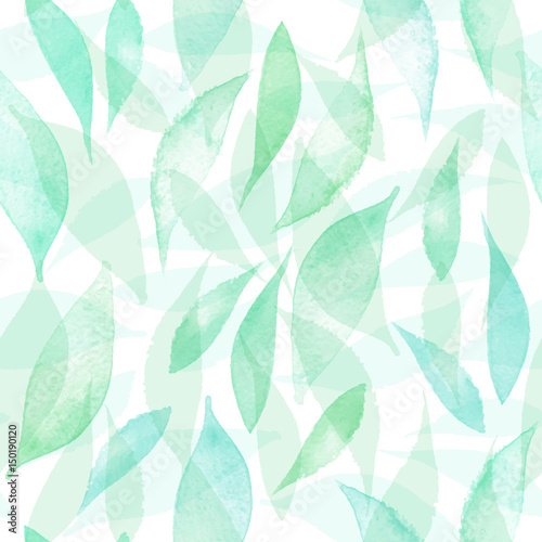 seamless-vector-pattern-with-hand-drawn-watercolor-leaves-vector-seamless-background-organic-hand-drawn-seamless-colorful-background-natural-botanical-texture-in-green-colors