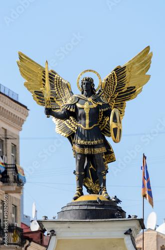 Obraz na płótnie Archangel Michael, Maydan nezalejnosti, Kiev, Ukraine