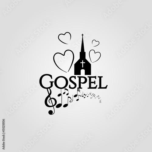 Fototapeta Gospel, music,