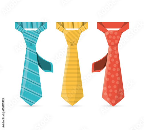 Fototapeta elegants ties to used in specials days, vector illustration obraz
