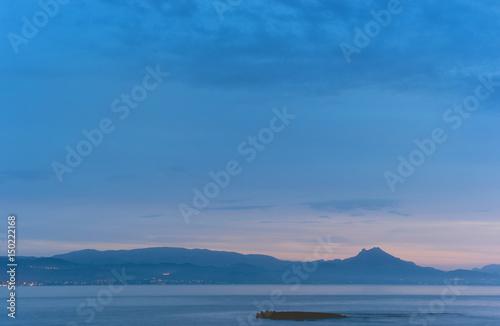 Canvas Prints Light pink Mediterranean Sea at sunrise. Spain