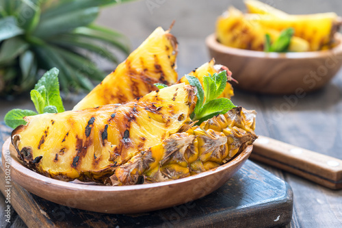 Photo Stands Ready meals Grilled pineapple slices
