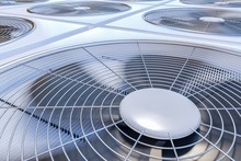 Close Up View On HVAC Units (h...