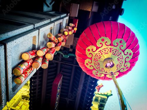 San Francisco Chinatown Gate: lantern detail