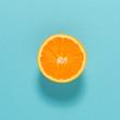 canvas print picture - Halved fresh orange