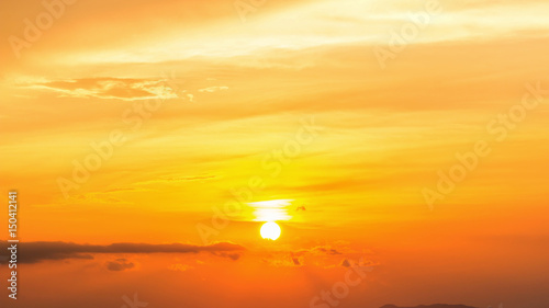 Cadres-photo bureau Orange eclat Colorful dramatic sky with cloud at Sunrise.Sky with sun background.