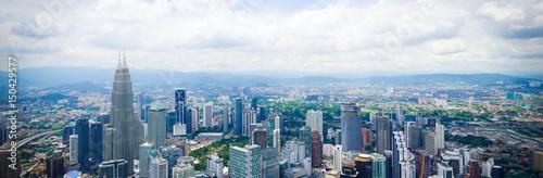 Photo Stands Kuala Lumpur Panoramafoto von Kuala Lumpur, Malaysia!
