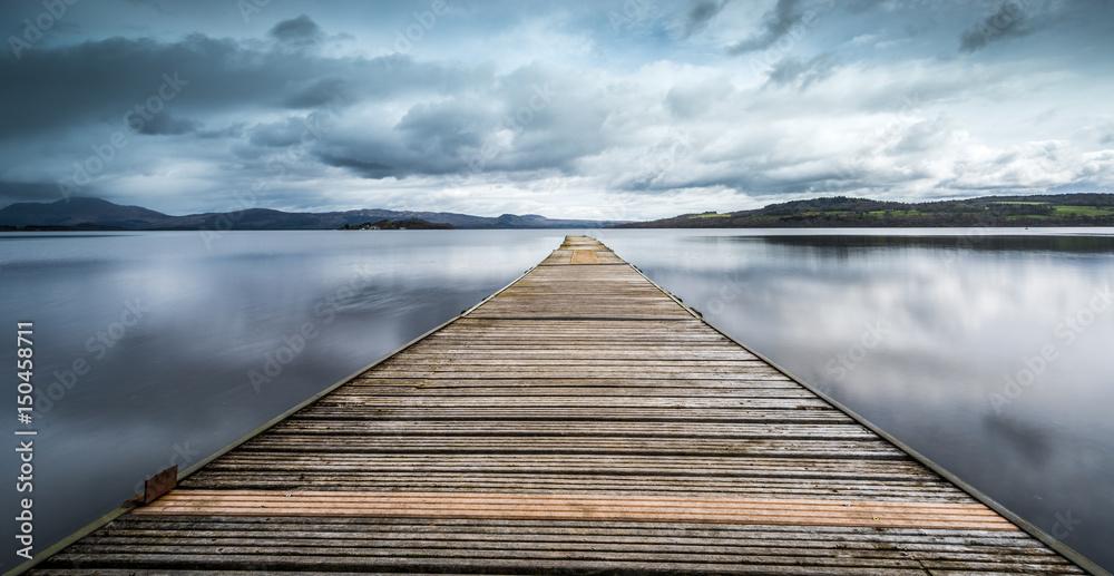 Fototapety, obrazy: The Jetty at Loch Lomond