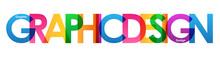 """GRAPHIC DESIGN"" Overlapping Vector Letters Icon (multicoloured)"