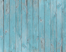 Blue Old Wood Planks Texture O...