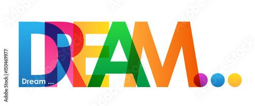 DREAM … Colourful Letters Wallpaper Mural