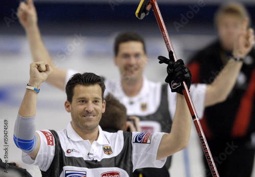 Germany's Kapp brothers celebrate win over USA at curling
