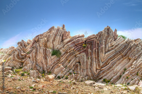 Folded limestone on Crete, Greece