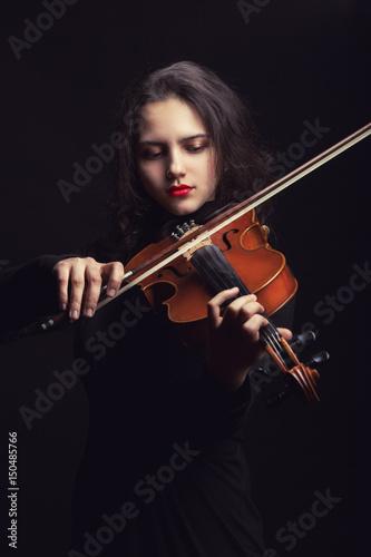 Spoed Fotobehang Muziek Violinist