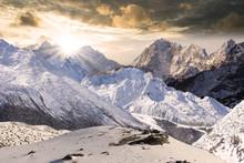 Bergmassiv Im Nepal