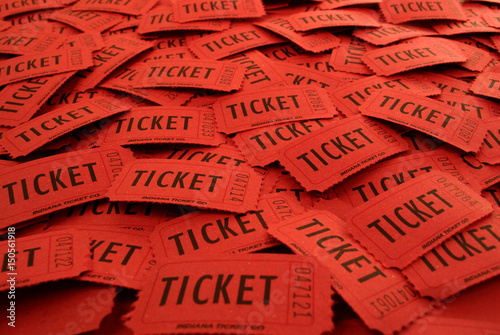Fotografía Tickets Used for Entrance into an Event