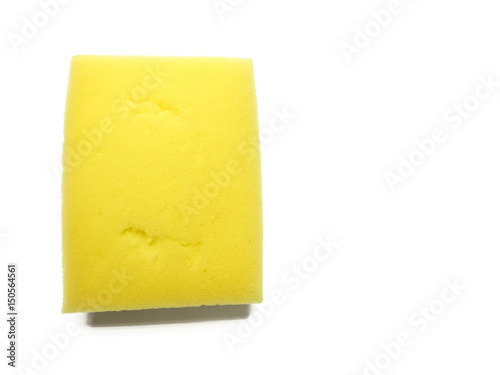 Fotografija  dish washing sponge on white background